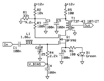 Dual Gate MOSFET Gain
