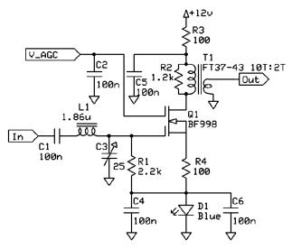Dual Gate MOSFET Return Loss